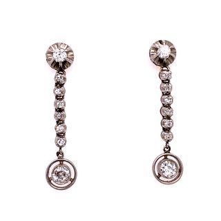 Platinum Diamonds Drop Earrings