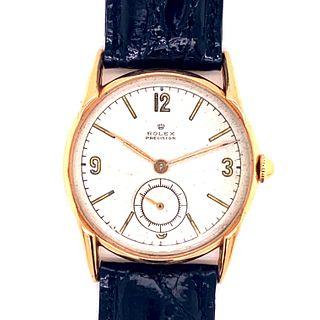 Rolex 18k Gold Precision Wristwatch