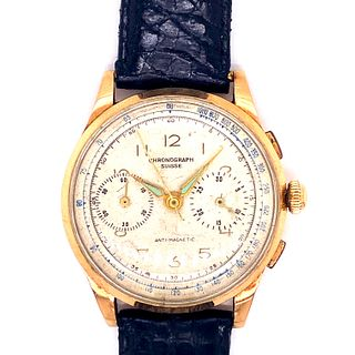 Chronograph 18k Gold WristWatch