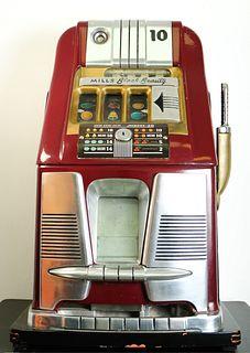 10 cent Mills High Top Black Beauty Slot Machine