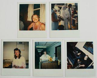 Group, 5 Andy Warhol Polaroids w/ Estate Stamp