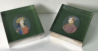 Pair, Cartier Sterling & Lucite Display Boxes
