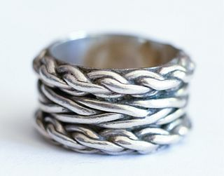 Mexican Sterling Silver Chain Link Ring