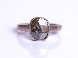 Sterling & 3.02 CT Cognac Diamond Ring