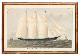 Schooner William Mason by Benjamin Russell