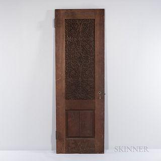 Lockwood de Forest (American, 1850-1932) Indo-Islamic Carved Teak Door