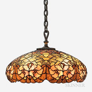 Duffner & Kimberly Leaded Glass Ceiling Lamp