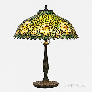 Leaded Glass Shade Table Lamp