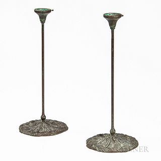 Pair of Queen Anne's Lace Candleholders