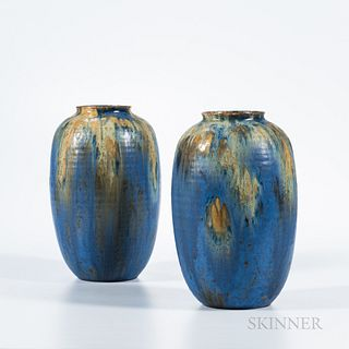 "Two Roseville Pottery ""Imperial II"" Vases"