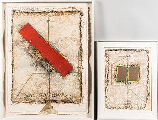 James Coignard (French, 1925-2008)      Two Framed Prints: La Diagonale: B Rouge