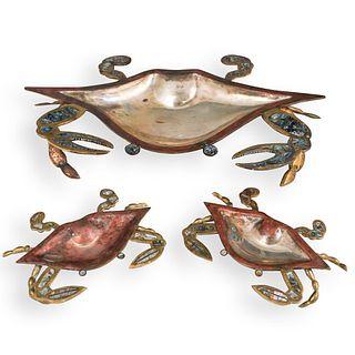 (3 Pc) Set Los Castillos Style Mexican Crab Set