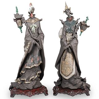 "Pair Of Limited Edition Lladro ""Oriental Fantasy"" Figurines"