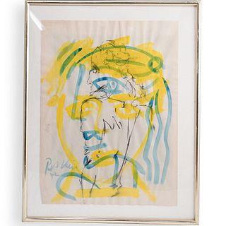 Peter Keil (German, b.1942) Signed Watercolor