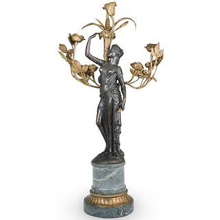 Bronze Figural Candelabra