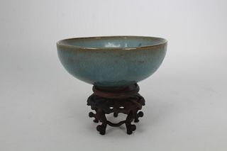 Chun-Yuan Dynasty,Chinese Glazed Pottery Bowl