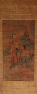 Early Antique Chinese Scroll, Signed