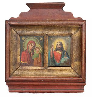 Exhibited 19th C. Russian Wedding Icon
