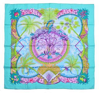 "Hermes ""Aloha"" Silk Scarf"