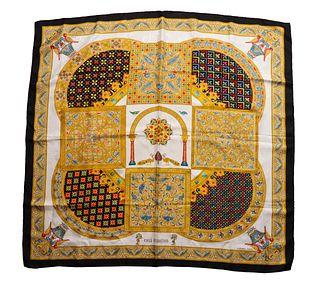"""Hermes """"Ciels Byzantins"""" Silk Scarf"""