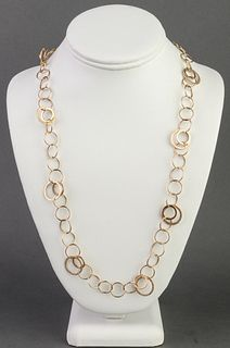 Atasay Designer 14K Yellow Gold Chain Necklace