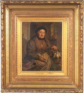 19th Century Northern European Oil on Canvas
