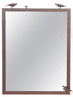 Diego Giacometti Style Bird Motif Wall Mirror