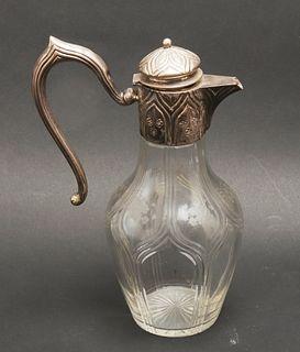 Austrian Silver Mounted Glass Ewer