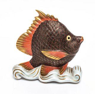 Herend Porcelain Sailing Fish Figurine