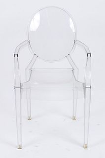 "Starck for Kartell ""Louis Ghost"" Acrylic Arm Chair"