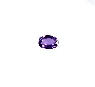 0.5 ct. Loose Oval-Cut Purple Sapphire Stone