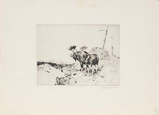 Carl Rungius (1869-1959) Scanning the Horizon