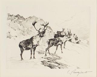 Carl Rungius (1869-1959) Osborne's Caribou