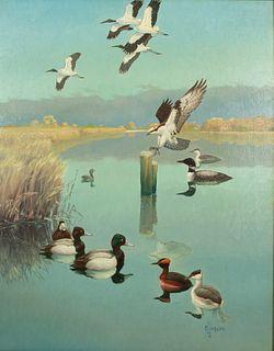 Francis Lee Jaques (1887-1969) Tidal Creek Scene