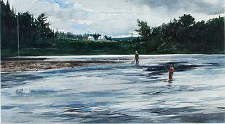 John Swan (b. 1948)  Salmon Fishing