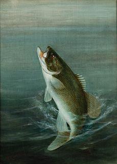 Harry A. Driscole (1861-1923)  Smallmouth Bass