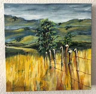 LINDA GALLOWAY, Old Fence in a Field