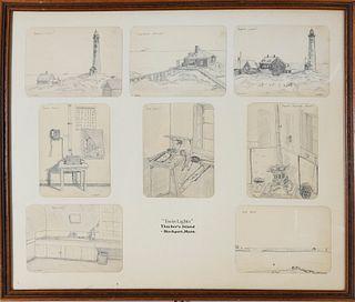 Robert Caldwell Pencil Drawings of Rockport, Massachusetts