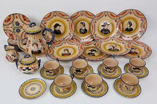 Henriot Quimper Pottery Tea Set