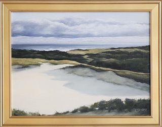 """Vincent Calarco Oil on Linen """"Distant Surf"""""""