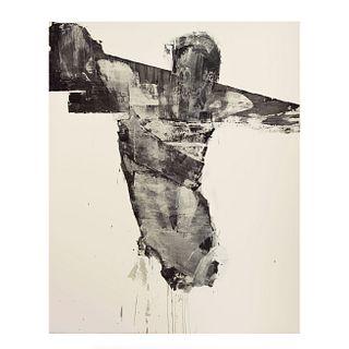 Gustavo Aceves. Sin título. Firmado y fechado '01. Óleo sobre tela. Con certificado del artista. 210 x 170 cm