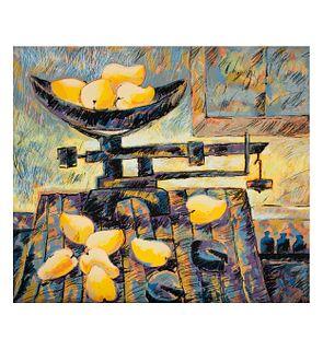 Armando Jiménez Reynoso.  Sin título. Firmada y fechada 92, Serigrafía P/T III. Con sello de agua de Ediciones Multiarte. 59 x 68 cm