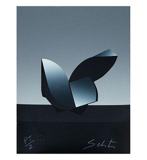 """Enrique Carbajal """"Sebastian"""". Sin título. Firmada. Serigrafía P/T II. Con sello de agua de Ediciones Multiarte. 28 x 21 cm"""