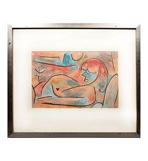 PAUL KLEE. Sommeil d'hiver (Winter's sleep), de la serie The four seasons, 1938, Firmada en plancha, Litografía. 23 x 34 cm