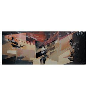 Gustavo Arias Murueta. Sin título. Firmada. Serigrafía 12/50. Sin enmarcar. 43x108 cm