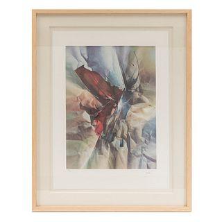 Leonardo Nierman. Papel Arrugado. Firmada. Litografía 91/325. Enmarcada. 76 x 56 cm