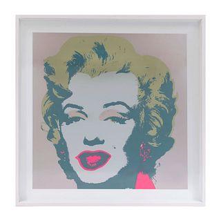 """Andy Warhol. II.26 : Marilyn Monroe. Con sello en la parte posterior """"Fill in your own signature"""". Serigrafía. Enmarcada. 90 x 90 cm"""