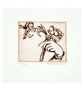 Alfredo Zalce. Sin título. Firmado. Grabado 279/400. Sin enmarcar. 11.5 x 14 cm