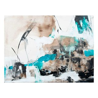 Reneé Farca. Abstracción. Firmado. Óleo sobre tela. Sin enmarcar. 60 x 80 cm.