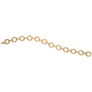 Bracelet in 18k gold. TANE. Weight: 40.0 g. Length: 7.4""